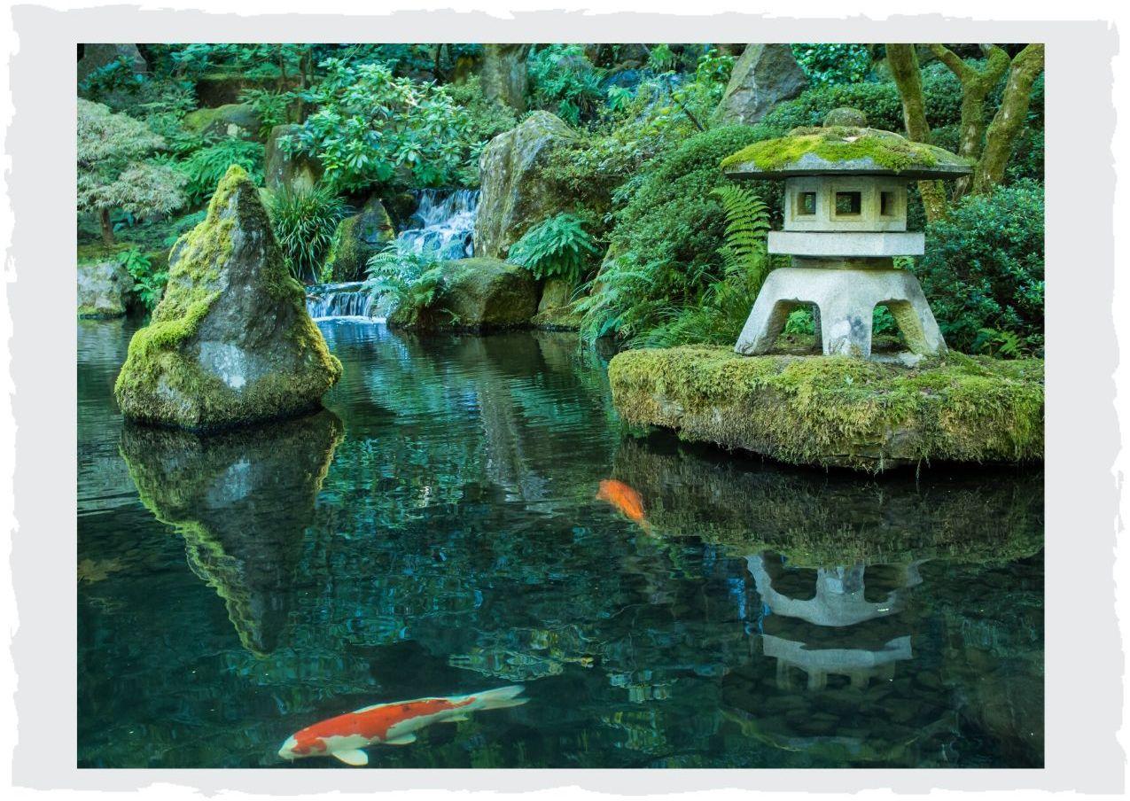 Japanische-Gartendeko
