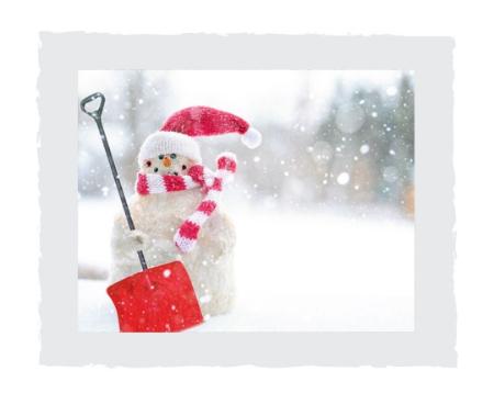 Schneemann-mit-Schneeschueppe