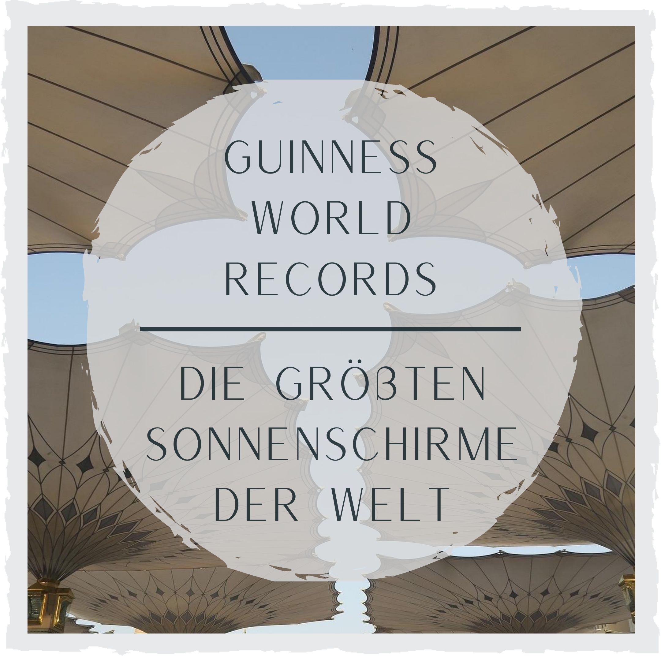 Sonnenschirm-Rekorde.
