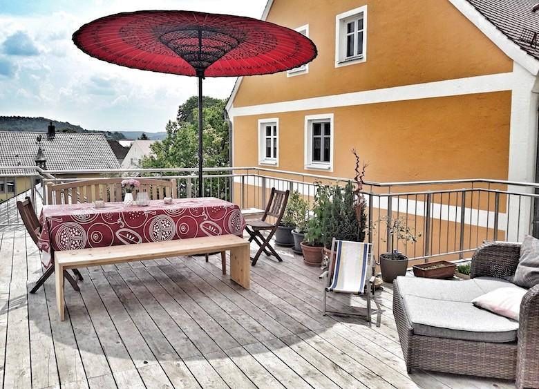 Asiatische Sonnenschirme , Der Perfekte Sonnenschirm Für Dachterrasse ☀