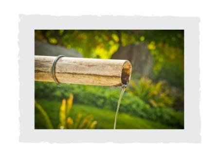 Bambusleitung