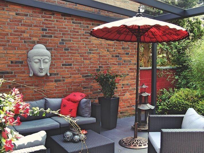 Asiatische Sonnenschirme , Asiatisches Flair Auf Ihrer Terrasse
