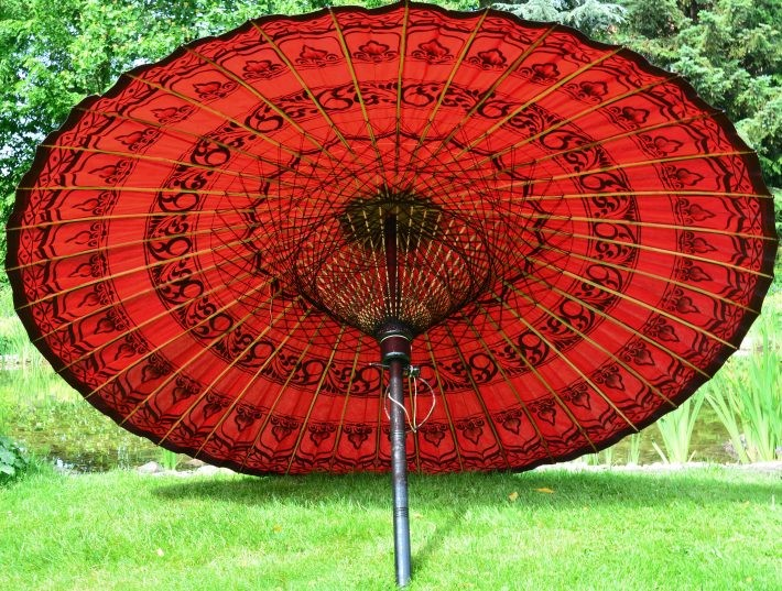 Asiatische Sonnenschirme einzigartiger sonnenschirm für besonderes ambiente