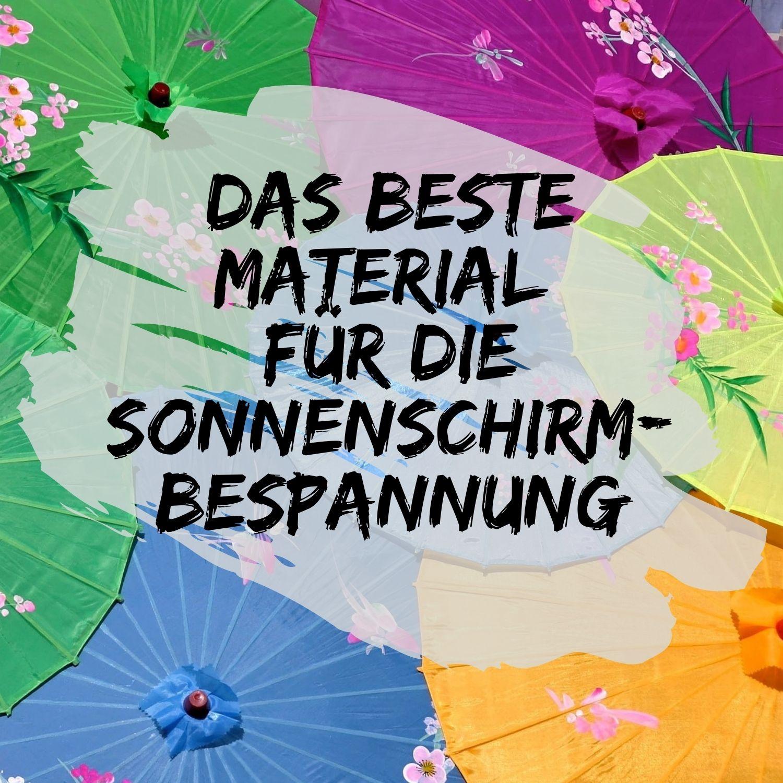 Material-Sonnenschirm-Bespannung