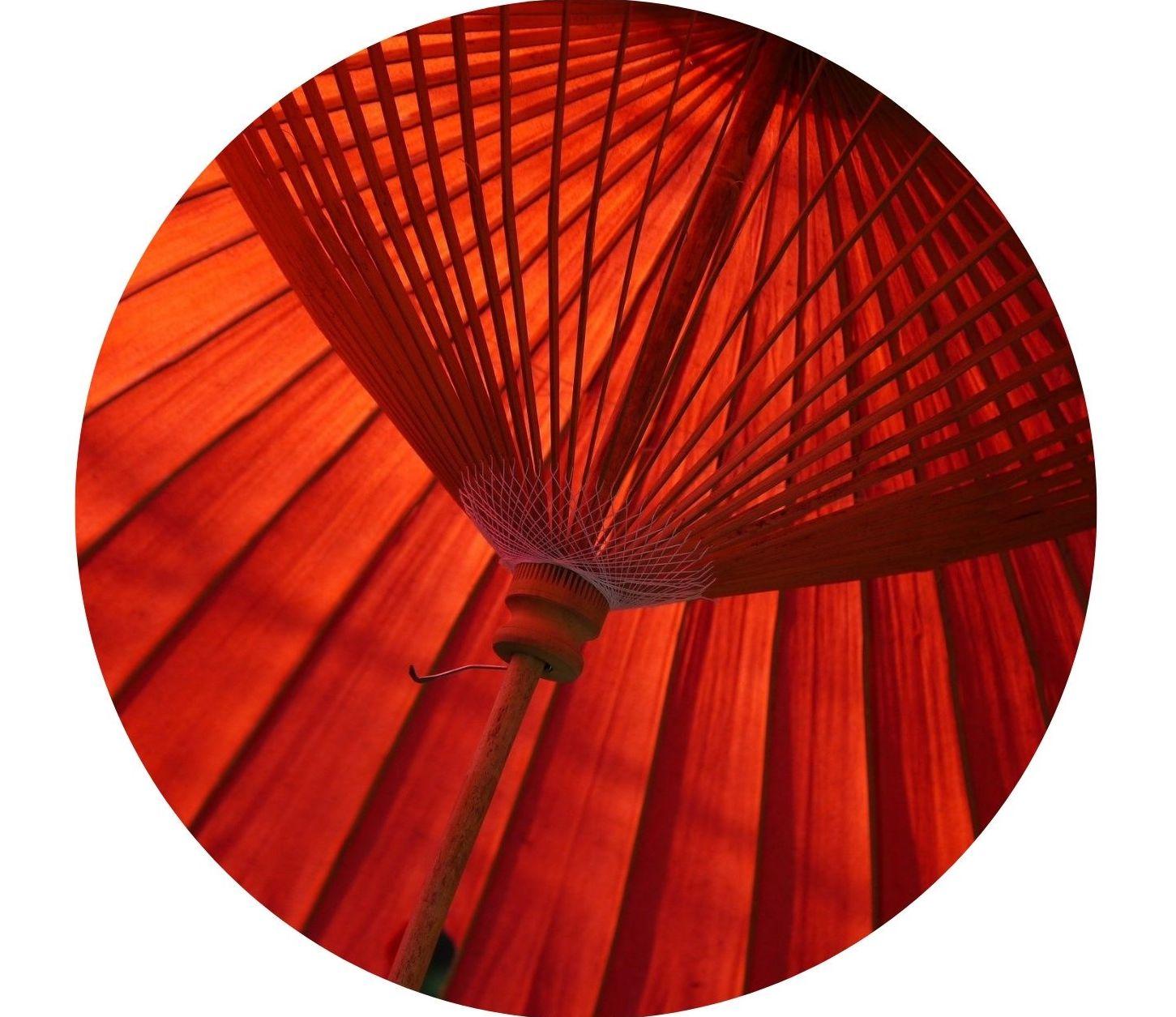rote-Sonnenschirm-Bespannung