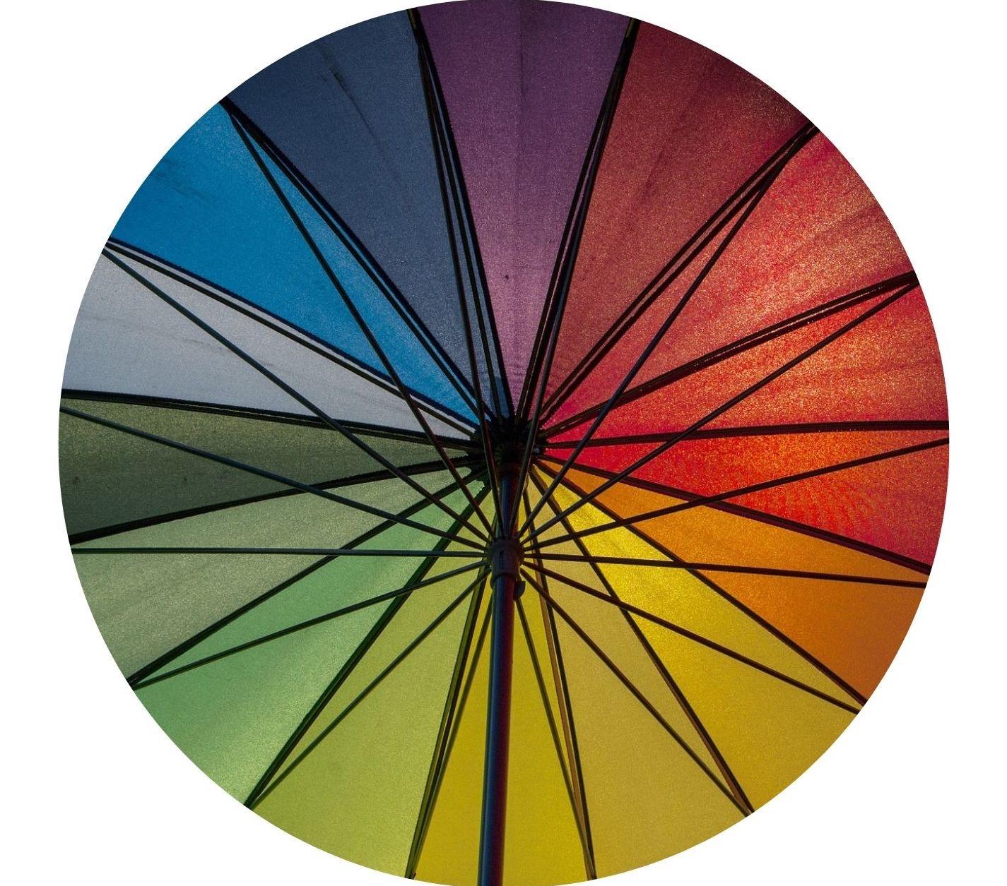 mehrfarbiger-Sonnenschirm